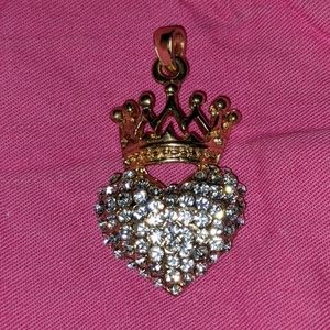 Heart Crown Bling Pendant